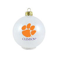 """NCAA Clemson Tigers LED Color Changing Ball Ornament, 2.625"""", White"""