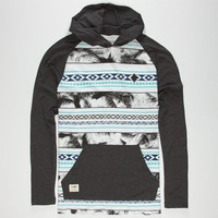 Lira Tropical Aztec Mens Lightweight Hoodie White/Grey  In Sizes