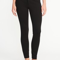 Mid-Rise Built-In Sculpt Ponte-Knit Pixie Ankle Pants for Women   Old Navy
