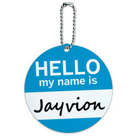Jayvion Hello My Name Is Round ID Card Luggage Tag