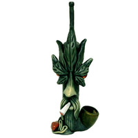 Tobacco Hand Made Pipe, Smoking Leaf Man Design