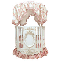Jaylen Round Baby Bedding in Pink Silk