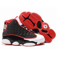 Nike Kids Air Jordan 13 Retro White/black/red Sneaker Shoe Us 11c - 3y