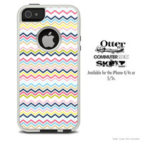 The Thin Colored Lines Chevron Skin For The iPhone 4-4s or 5-5s Otterbox Commuter Case