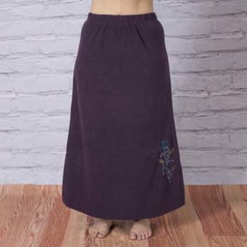 Farrah Fleece Maxi Skirt