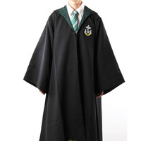 Harry Potter Robe Gryffindor with Tie Cosplay Costume  Adult Harry potter Robe cloak 4 styles Halloween Gift 11 SIZE