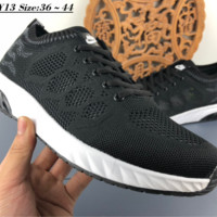 hcxx N115 Nike Zoom Flyknit Hollow Breathable Fashion Running Shoes Black