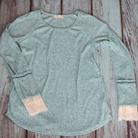 Jade Long Sleeve with Lace Layered Cuff