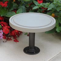 Serving tray, cake plate, cheese board -   Industrial meets shabby chic with steel pipe stand