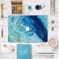 Unique Painting Sea Macbook Cover Sticker