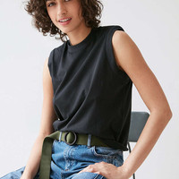 Silence + Noise Briar Padded Shoulder Muscle Tank Top - Urban Outfitters