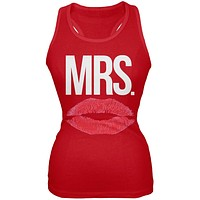 Mrs. Lips Red Juniors Soft Tank Top