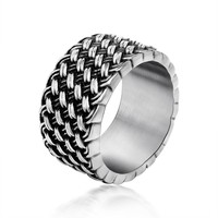 Stylish Jewelry Shiny New Arrival Gift Vintage Design Men Strong Character Titanium Accessory Ring [6526798979]