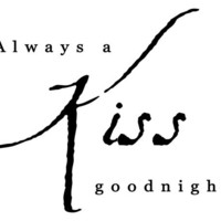 Always a kiss goodnight wall decal words quote sticker