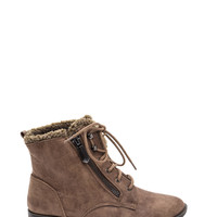 Tough Path Shearling Lace-Up Boots GoJane.com