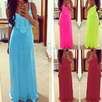 2016 Women Summer Dress Straight Solid Novelty Sleeveless Long Maxi Dresses Casual Vestido Floor Length Dress 12
