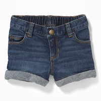 Cuffed Denim Shorts for Toddler Girls|old-navy