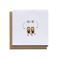 You + Me Emoji Greeting Card
