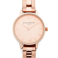 Olivia Burton Luxe Teacup and Running Watch in Rose Gold