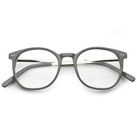 Dapper Retro Clear Lens Horned Rim Glasses A312