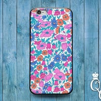 iPhone 4 4s 5 5s 5c 6 6s plus + iPod Touch 4th 5th 6th Gen Cute Pink Teal Daisy Flower Floral Pretty Cover Adorable Pattern Design Fun Case