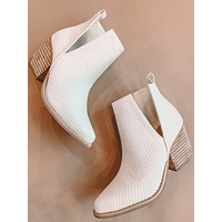 Jena Cut Out Snake Booties (White)