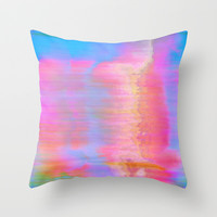 00-36-36 (Face Glitch) Throw Pillow by acousticdemons