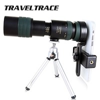 8-24x30 Zoom Monocular Telescope for Smartphone Long Range Powerful Foldable Telephoto Compact Hunting Camping Optical Military