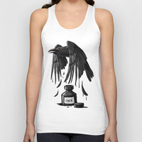 Ink Raven Unisex Tank Top by Freeminds