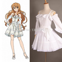 Online Shop Golden Time Anime Cosplay Kaga Kouko Casual White Sexy Summer Dress For Women Plus Size Custom made Cosplay Costumes|Aliexpress Mobile