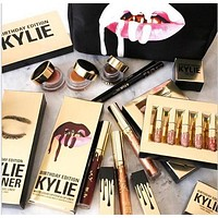 Kylie Lip 6pcs Set Matt Cup Lip Gloss Kylie Jenner Gold & kylie Lip Kit Upgraded Version Lip Gloss + Gift Box