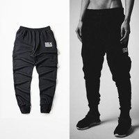 Ninja Black Mens Joggers Pants Hip Hop Sweatpants Fashion Brand Harem Pants Men Gym Clothing Cotton M-4XL BHYHWK0004XX
