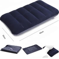 Car Travel Air Cushion Rest Pillow Blue Inflatable Bed Outdoor Camping Pillows 40 x 30 x 3cm for Car Comfortable Blue Mattress
