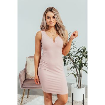 Look Your Best Bodycon Dress- Blush