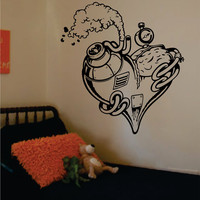 Steampunk Heart Machine Love Design Decal Sticker Wall Vinyl Decor Art