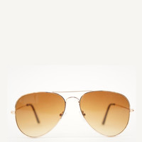 Classic Aviators Sunglasses Brown/Gold