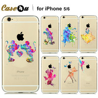 Watercolor Disney Character Soft Clear TPU Case