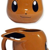 20oz Pokemon Pikachu Face Molded Brown Ceramic Coffee Mug, Novelty GIFT to Pokemon fans