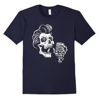 Greasers Never Say Die - Rockabilly Skull Tee