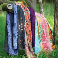 Embroidered Kantha Throw