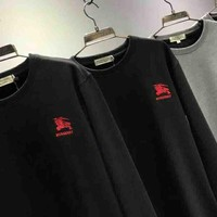 DCCKN6V BURBERRY Fashion Casual Men Wool Embroider Long Sleeve Pullover Sweater G-MG-FSSH
