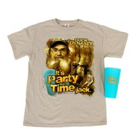 Duck Dynasty It's Party Time Jack Adult T-Shirt Tee in a Cup