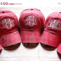 SALE MONOGRAM Baseball Cap for Ladies, Personalized Baseball Hat for Women, Bridesmaid Gift