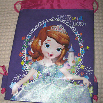 LITTLE PRINCESS PURPLE DRAWSTRING BAG BACKPACK TRAVEL STRING POUCH-BRAND NEW!!