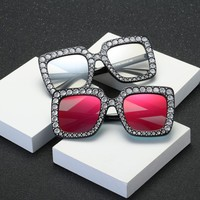 Artificial Diamond Classic Sunglasses