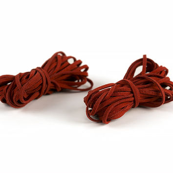 Faux Leather Cord, Red, 6 Yds, 2 Pack