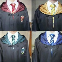 High Quality Robe Gryffindor Cosplay Costume Kids Adult  Robe cloak 4 styles Halloween Gift 11 SIZE for Harri Potter Cosplay