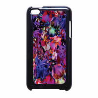 Lush Floral Pattern Beaming Orchid Purple iPod Touch 4th Generation Case