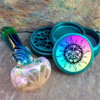 Set: Spiral Twist Pipe and Sun Grinder