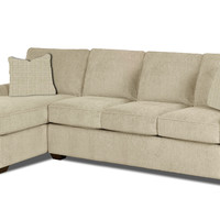Gold Coast Chaise Sectional Sleeper Sofa by Savvy in Hilo Flax